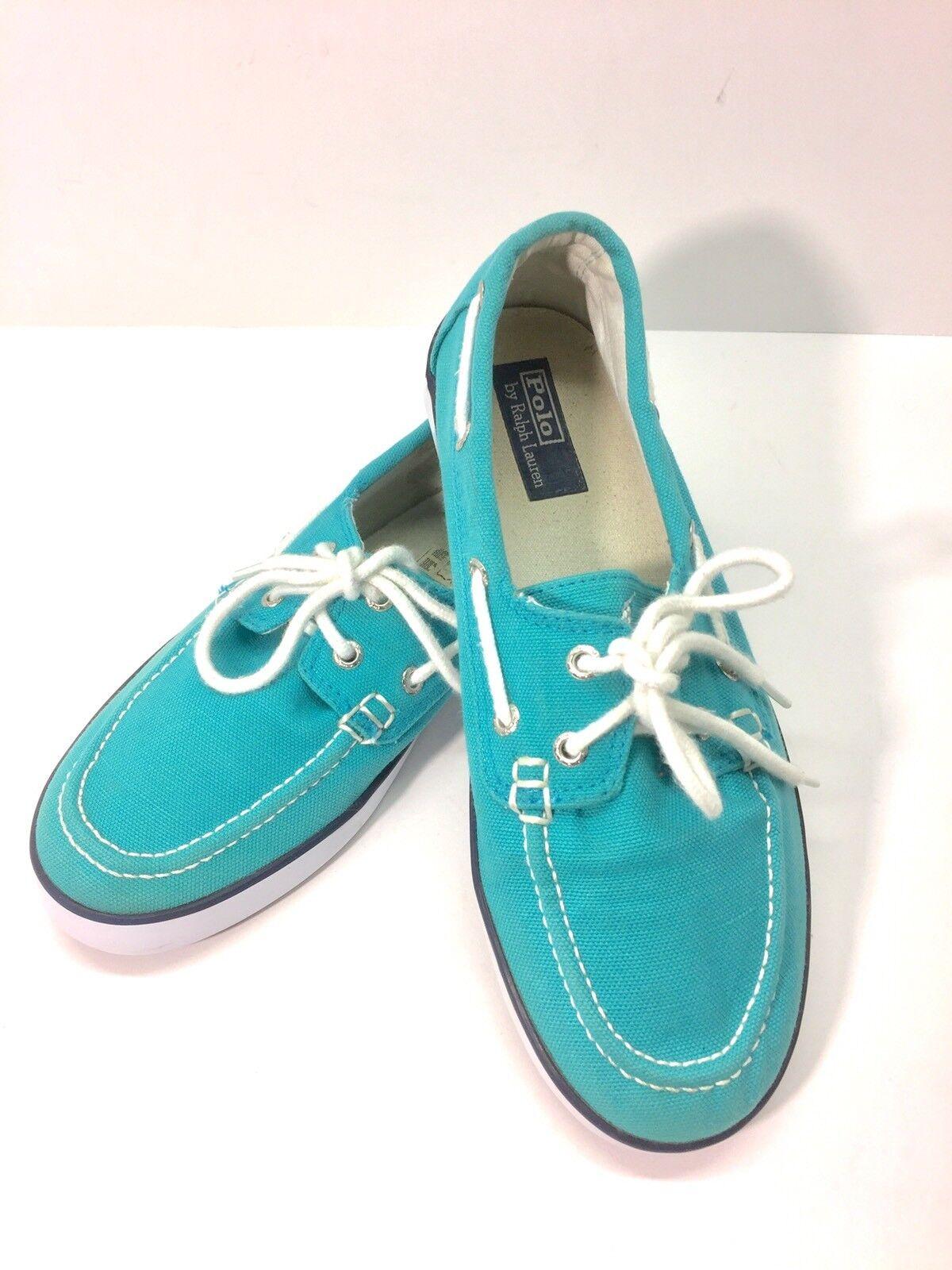 Polo Ralph Lauren Womens Sander Boat Sneaker Top-Sider 1/2 Shoe Canvas Size 5 1/2 Top-Sider b8f7c6