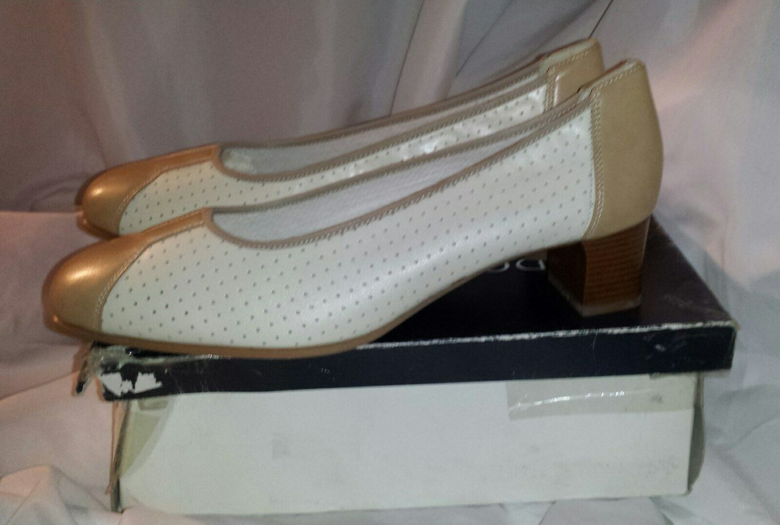 3086a33120cea & Beige Heeled shoes UK8H - Dorndorf (Wide Fit) BNIB Cream Leather ...