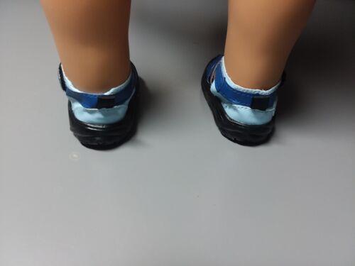 "Dolls Perfect for Boy Dolls! Blue Sporty Sandals for American Girl Dolls /& 18/"""