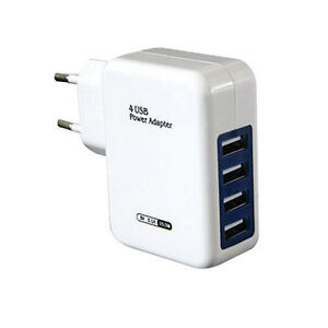 USB-HUB-Adapter-Wand-Hause-Reise-Ladegeraet-fuer-Iphone-4-PoAX