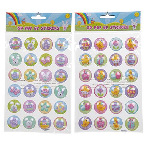 Easter Arts /& Craft Bonnet Decorations 736024-2 Pk Pop Up 3D Stickers