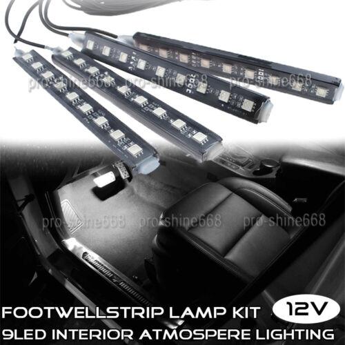 LED Interior Under Dash Footwell Foot Seat Light Kit LED Accent Light 6K White
