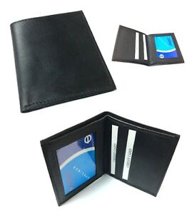 Handcrafted-REAL-LEATHER-Travel-Card-Holder-Wallet-Bus-Pass-Ticket-soft-Slim-208