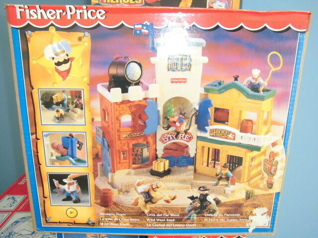 Fisher Price Imaginext Playset Western Town CITTA' FAR WEST Nuovo