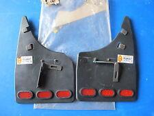 Jeu de bavettes arrière avec catadioptres R-B pour Renault R21 Bicorps