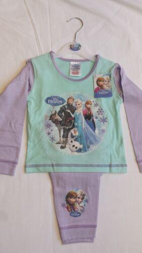 OFFICIAL Disney congelato Elsa Anna Olaf Bambini Pigiama Set e Top a Maniche Lunghe