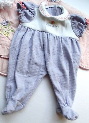 American Girl Bitty Baby Twin Doll 2005 Lavender Knit Meet Sleeper only *Sweet