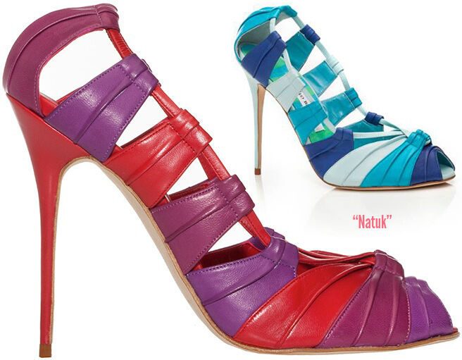 1185  Nuevo Manolo Blahnik Blahnik Blahnik natuk Morado rosado Fucsia Peep Toe De Tacones Zapatos 37  precios ultra bajos