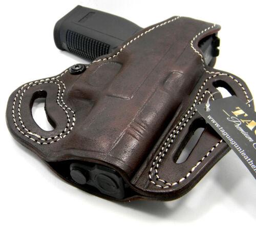 "SPRINGFIELD XDM 4.5/"" TAGUA PREMIUM Brown Leather OWB Thumb Break Belt Holster"