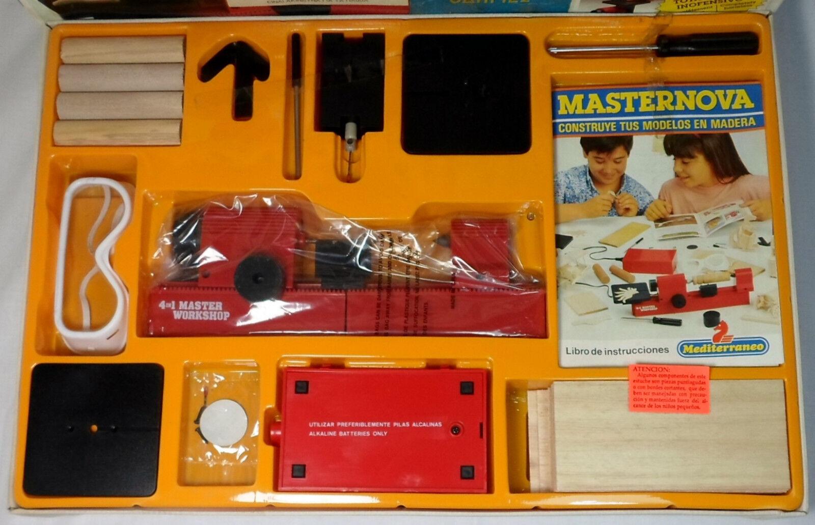 HASBRO 90's MEDITERRANEO MASTERNOVA WOOD MODELS MODELS MODELS WORKSHOP EDUCATIONAL GAME MIB 5c67f0