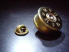 12g Shotgun cartridge shell cap lapel pin badge gift clay pigeon shooting/game
