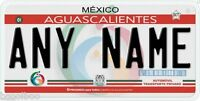Aguascalientes Mexico Any Name Number Novelty Auto Car License Plate C03
