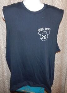 34d692375 Image is loading JUNK-FOOD-Navy-Blue-MICKEY-MOUSE-DISNEY-Sleeveless-