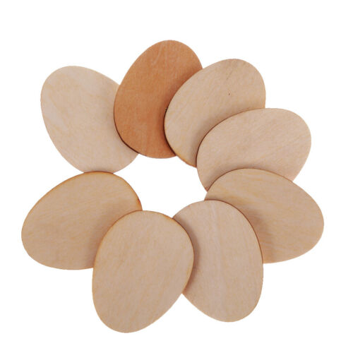 50 stücke Holz Form Eier Verzierungen für Scrapbooking Ostern Handwerk 5