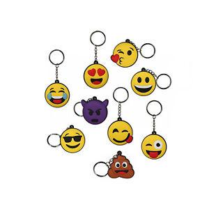 Portachiavi in Silicone Emoticon 4,5cm Love Kiss Smile