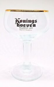 Bonnet Bier Meisenheim Stemmed German Beer Glass Goblet Gold Rimmed