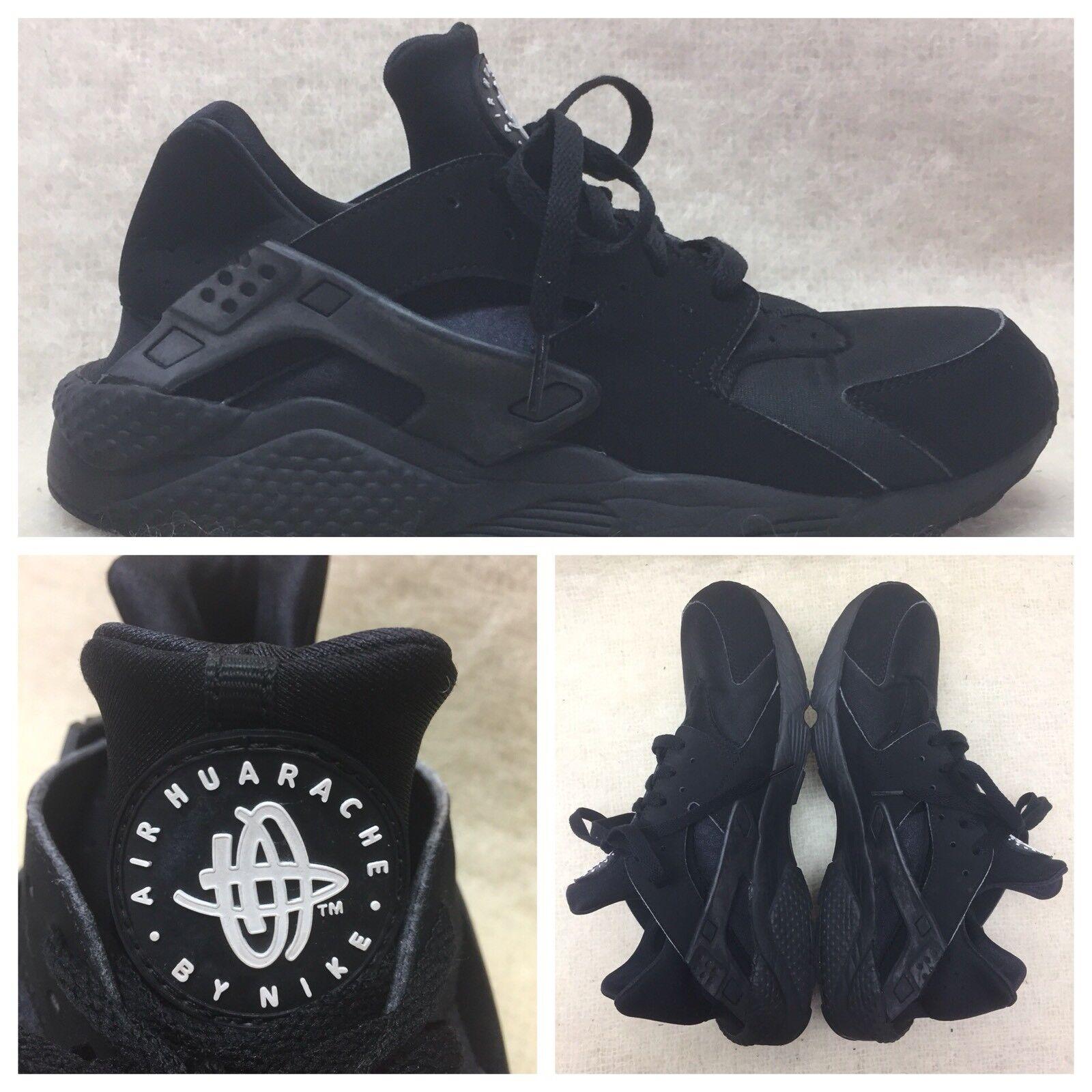 Nike Air huarache hombre running 318429-003 BLK Textile Athletic running hombre zapatos US comodo b8ff38