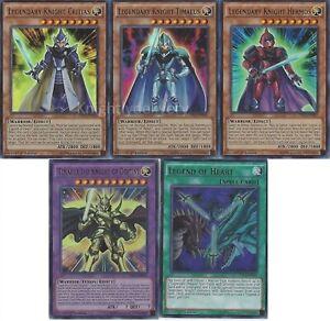 Yugioh Legendary Knight Deck - Legend of Heart - Critias ...