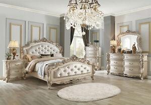 Old World Antique White Bedroom Furniture Daphne 5pcs King