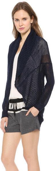 NWT- Vince Circle Loose-Knit Linen Cardigan, Coastal bluee - Size XSmall