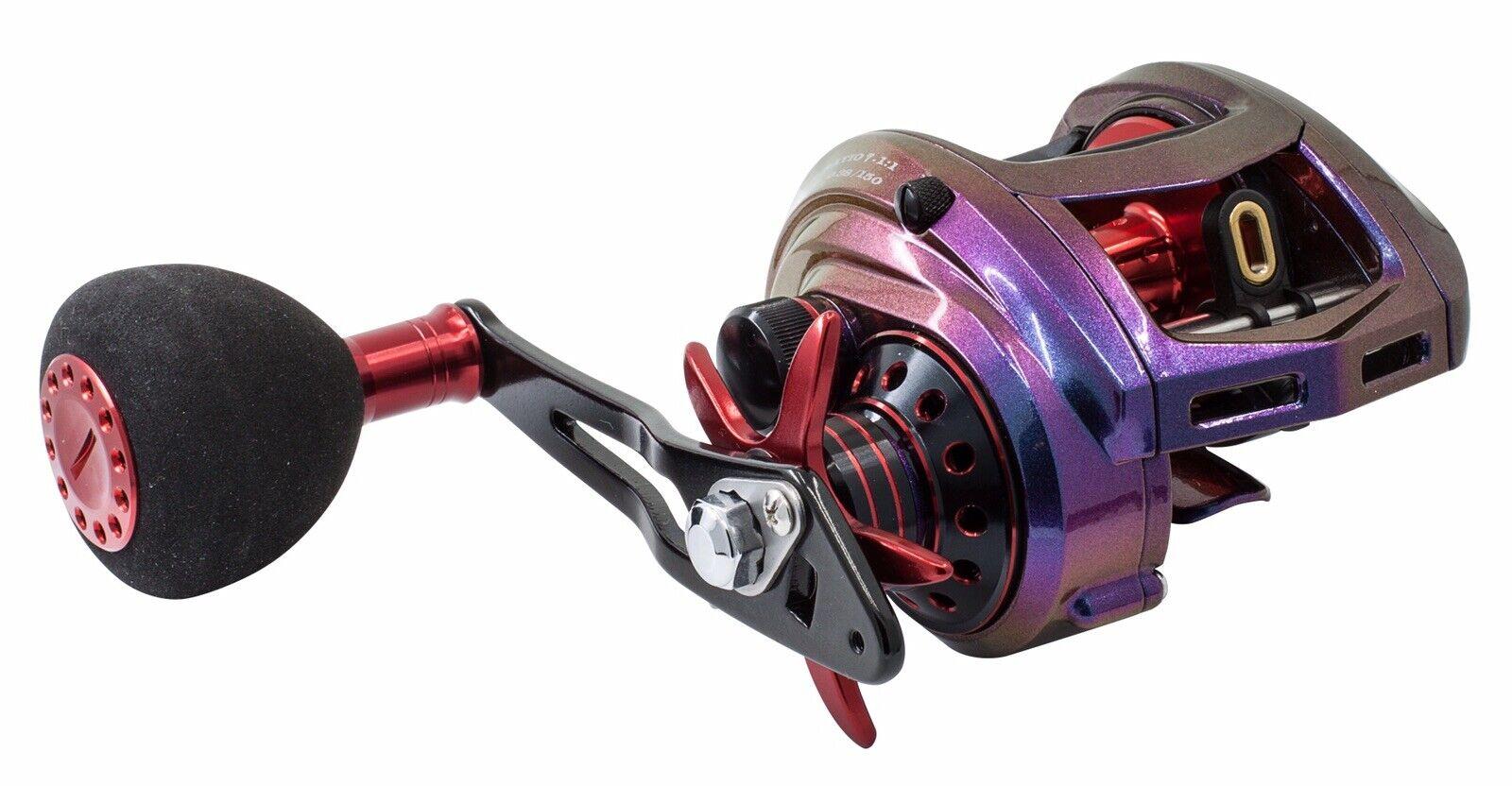 Loki DC1400 Gran Cebo Caster 7 1 .1 Baitcasting Reel de Pesca Mano Izquierda Big Juego