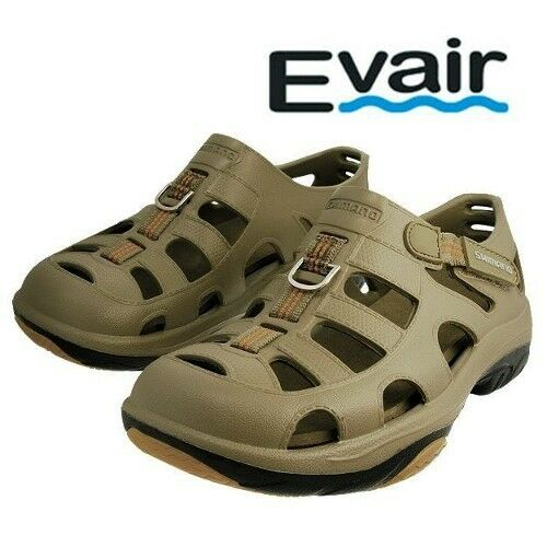 Shimano Evair Marine / Fishing Shoes Sandals Mens Sizes 8 Thru 13 Khaki Color