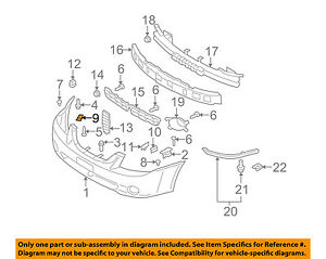 KIA Oem Spectra Front Bumpercover Retainer Clip Or Bracket Right. Is Loading KIAoemspectrafrontbumpercoverretainerclip. KIA. KIA Spectra Fender Parts Diagram At Scoala.co