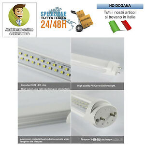 NEON-LED-ALTA-POTENZA-9W-14W-18W-20W-60-90-120-150-CM-TUBO-T8-LUCE-FREDDA-CALDA