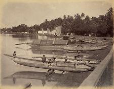 Photo Albuminé Scowen Inde India Sri LankaCeylan Lac Kandy Vers 1880