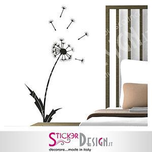 Dettagli su Wall Stickers Floreale Adesivi Murali Dandelion Stilizzato  Camera da Letto