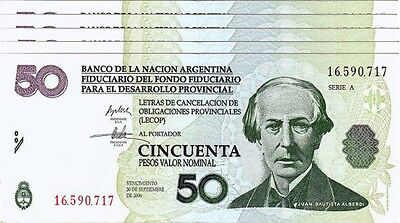 30-9-2006 LECOP ARGENTINA 50 PESOS EMERGENCY VF