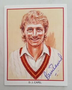 """DAVID CAPEL CRICKET SIGNED IN PERSON COUNTY HOBBY CARD """"BUY GENUINE"""""""