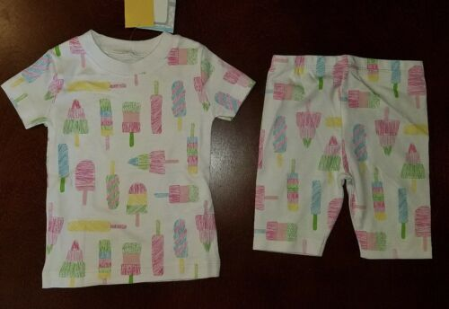 Kissy Kissy Popsicle Toddler Girl Pajamas New 12-18 Months Pima Cotton