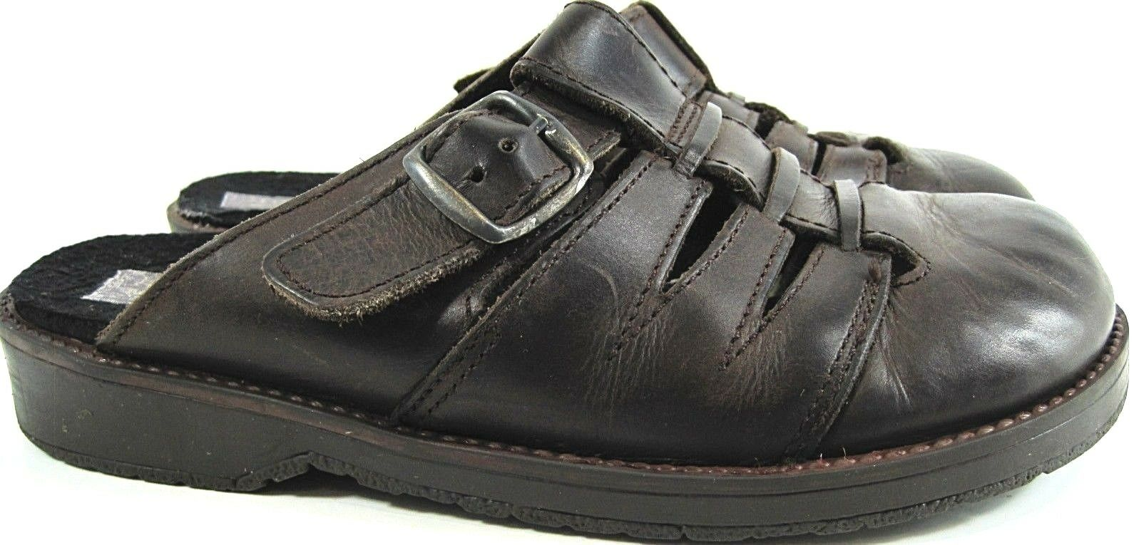Drexlite Damens Leder Sandales Größe 6.5 Euro 36 Braun Made In Spain
