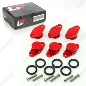 6x Swirl Flaps 22mm red intake manifolds with O-ring bolt Opel/Vauxhall Omega B