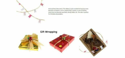 Raffia Natural Craft Paper Ribbon Wrapping Twine Gift Packing Rope Wedding Decor
