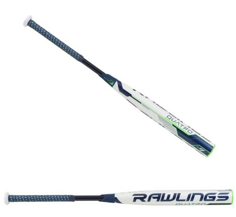 Rawlings 2018 Quatro Fastpitch Softball Bat (-9) 2 1 4 Azul Marino FP8Q9