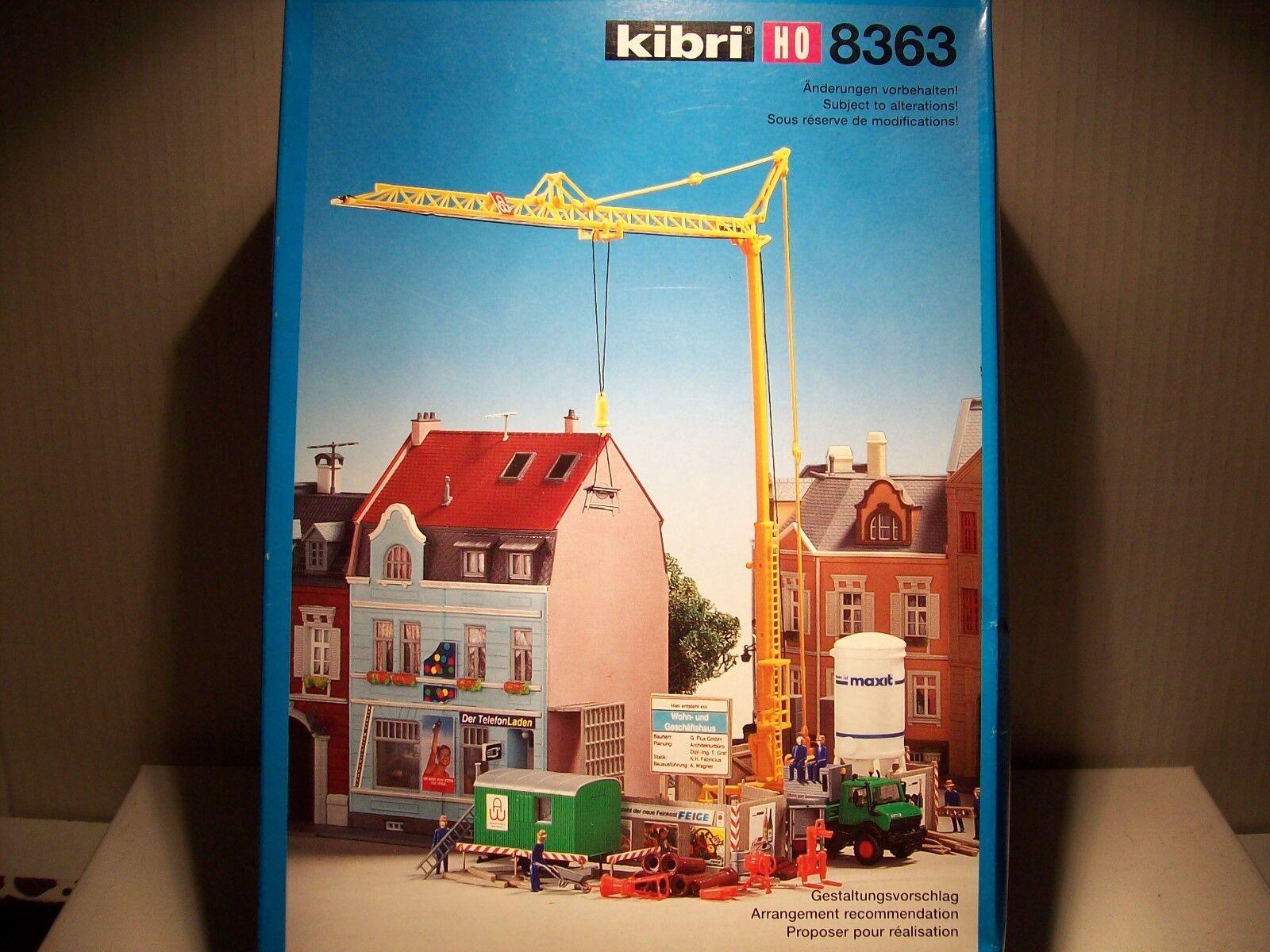Kibri H0 8363 Bausatz  City-Baustelle mit Baukran  - Neu  OVP  | König der Quantität