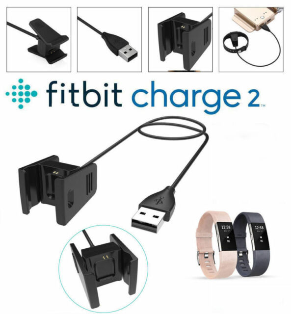 USB Cable Charger Lead Charging for Fitbit CHARGE 2 Fitness Tracker Wristband SX