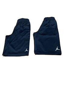 Lot-Of-2-Black-Nike-Jordan-Jumpman-Mesh-And-Drifit-Shorts-Youth-L