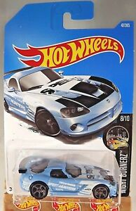 2017 Hot Wheels #47 Night Burnerz 8//10 DODGE VIPER SRT10 ACR Blue w//Gray MC5 Sp