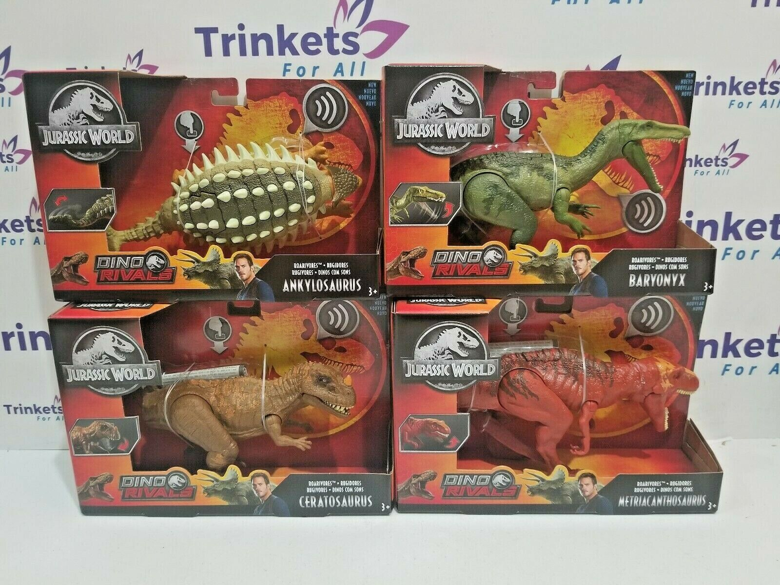 Jurassic Welt Dino Rivals Ceratosaurus Baryonyx Ankylosaurus Metriacanthosaurus