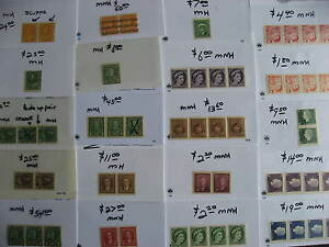 CANADA 20 different interesting MNH/MH coil strips,pairs,singles check them out!