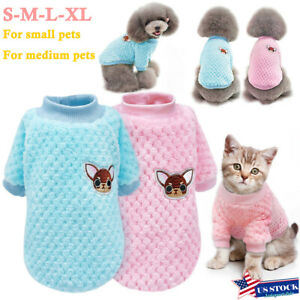 Pet-Dog-Winter-Warm-Jumper-Pullover-Sweater-Small-Medium-Dog-Clothes-Outwear-US