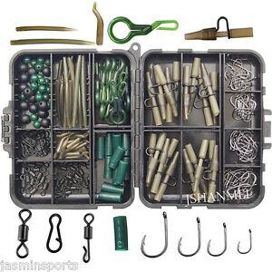 160pcs-Carp-Fishing-Tackle-Accessories-Kit-Lead-Clips-Karpfen-Wirbel-Haken-Perlen
