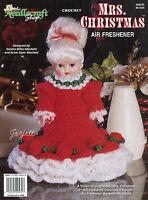 Mrs. Christmas Mrs. Santa Claus Crochet Patterns & Air Freshener Doll