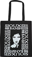SIOUXSIE SIOUX AND THE BANSHEES BLACK TOTE ECO SHOPPER BAG GOTH PUNK ROCKER