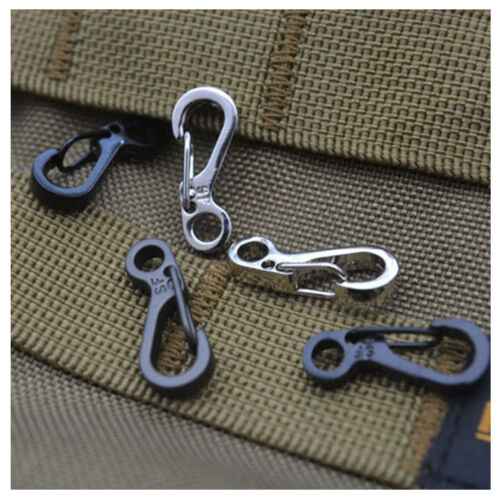 10//20Pc Set Aluminium Alloy Buckle Snap Spring Clip Hook Keychain Carabiner Tool