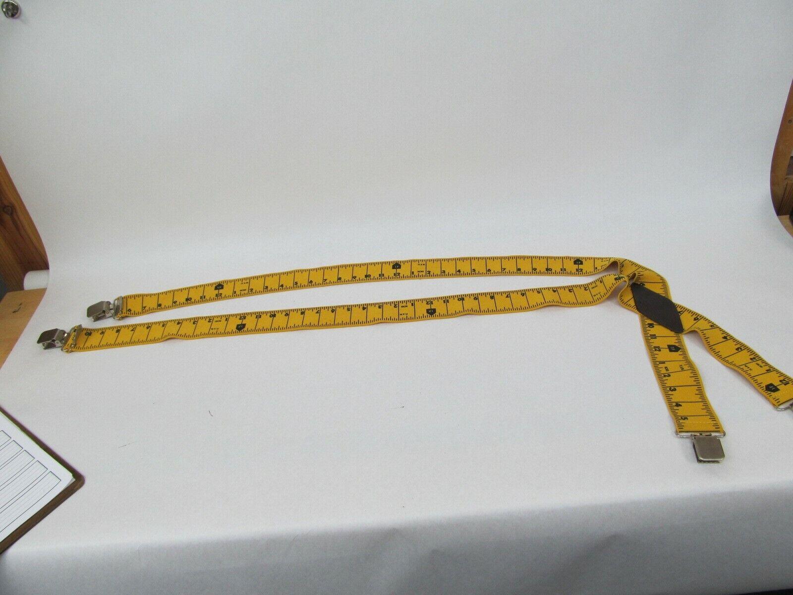Tape Measure Ruler Yellow Suspenders