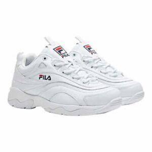 Fila-Women-039-s-White-Disarray-Sneakers-Shoes